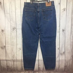 Levis 550 Blue Jeans Relaxed Tapered Leg 20 Mom